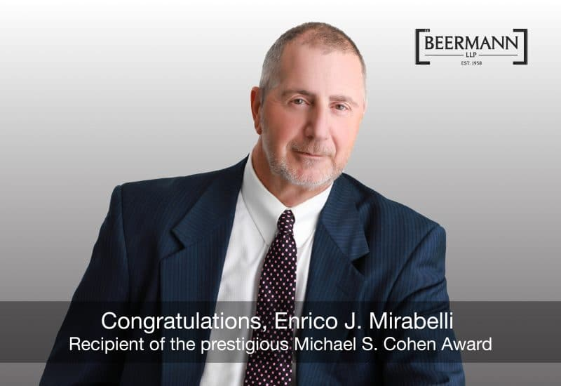Enrico J. Mirabelli Awarded the Prestigious Michael S. Cohen Award